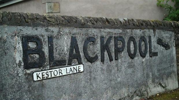 blackpool sign on wall